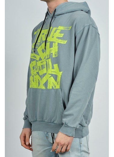 XHAN Antrasit Baskılı Sweatshirt 1Kxe8-44276-36 Antrasit